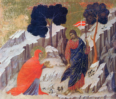 Noli Me Tangere, Christ Resurrected Appears Before Mary Magdalene by Duccio