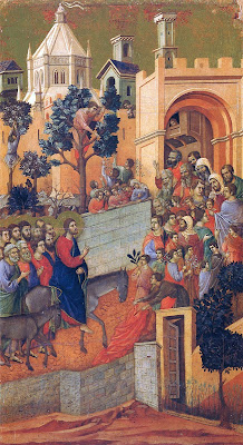 Entry into Jerusalem by Duccio The Maestà
