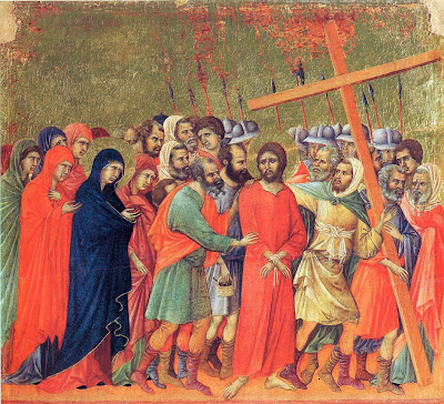 The Carrying of the Cross by Duccio The Maestà