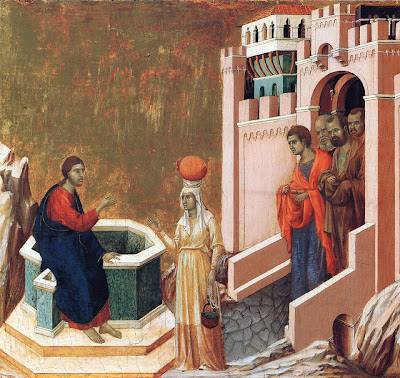 Christ and the Samaritan Woman by Duccio