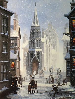 Braaq British Artist. Winter Painting