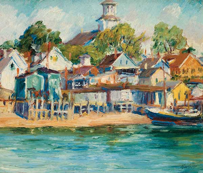 Oil Painting by American Impressionist Max Kuehne
