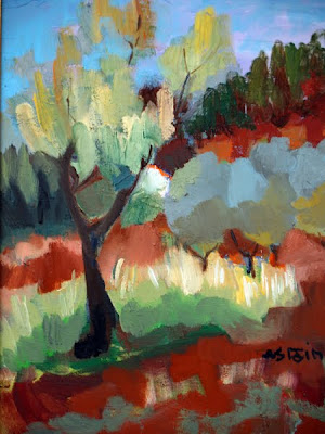 Landscape Painting by Marie Astoin French Artist