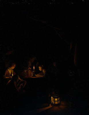 Gerrit Dou Painting. The Night School
