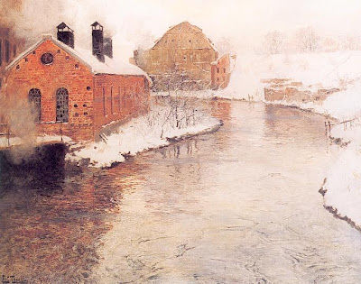 Oil Paintings by Frits Thaulow Norwegian Painter