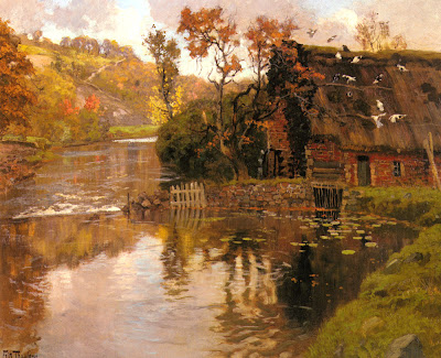 Painting by Frits Thaulow Norwegian Painter
