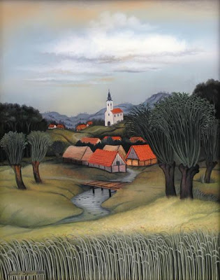 Oil Painting by Croatian Naive Artist Zvonko Sigetić