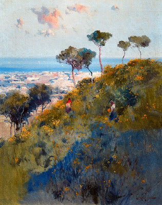 Painting by Spanish Landscape Painter Eliseo Meifren y Roig