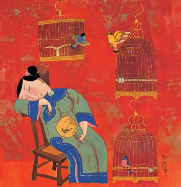 Painting by Chinese Artist Hu Yongkai