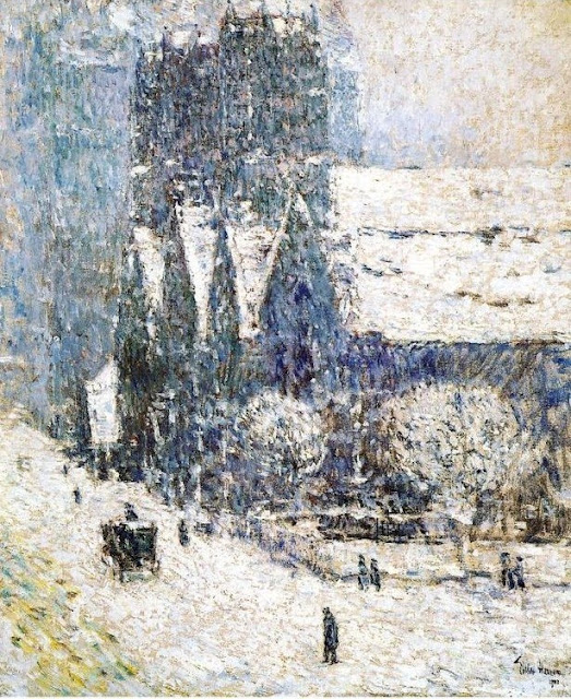 Oil Painting by American Impressionist Childe Hassam