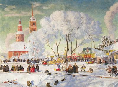 Painting by Russian Artist Boris Kustodiev