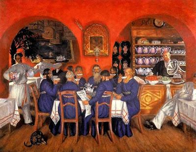 Oil Painting by Boris Kustodiev Russian Artist