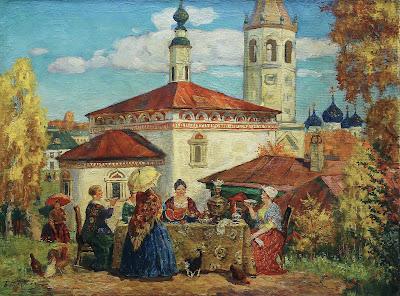 Oil Paintings by Boris Kustodiev Russian Artist