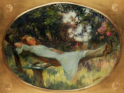 Painting by Henri Gaston Darien