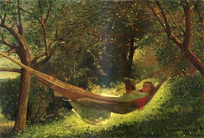 Girl in a Hammock, Winsler Homer, 1873