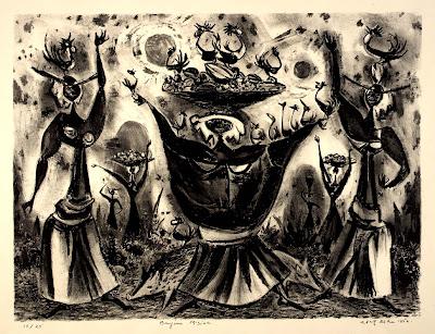 Lithography by American Artist Adolf Dehn