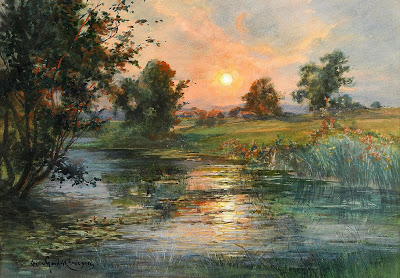 Watercolor Landscape by Swedish Artist Anna Gardell-Ericson