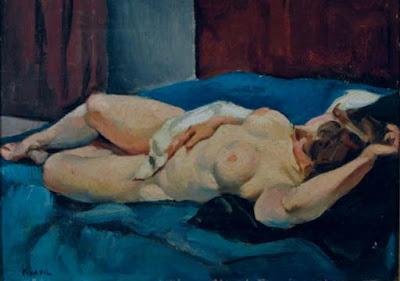 Nude Painting by Belgian Artist Charles Kvapil