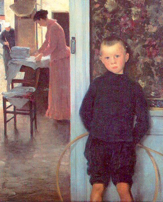 Children in Painting by Paul Mathey