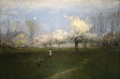 Spring Bloom in Painting. George Inness, Spring Blossoms, Montclair, New Jersey