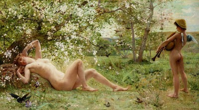 Spring Bloom in Painting. Luc-Oliver Merson, Springtime Awakening