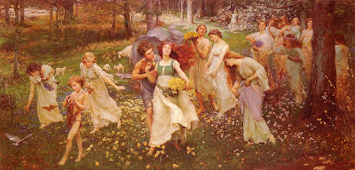 Spring Bloom in Painting. Charles Daniel Ward, The Progress of Spring
