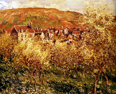Spring Bloom in Painting. Claude Monet, Apple Trees In Blossom