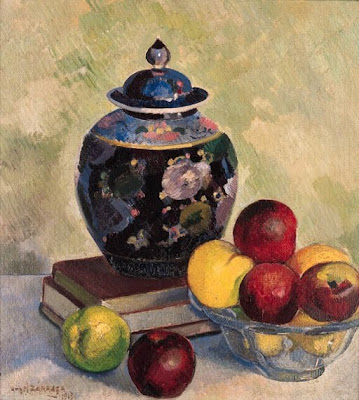 Still Life Painting by Angel Zarraga Mexican Artist
