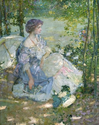 Women in Painting by  Richard Emil Miller American Impressionist