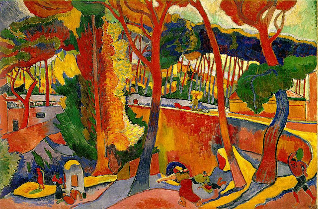 Painting by French Fauvist Artist Andre Derain