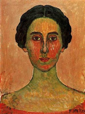 Portrait Painting by Swiss Art Nouveau Artist Ferdinand Hodler
