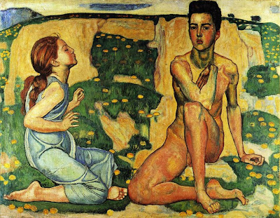 Oil Painting by Swiss Art Nouveau Artist Ferdinand Hodler
