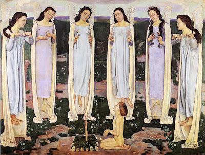 Painting by Ferdinand Hodler Swiss Art Nouveau Artist