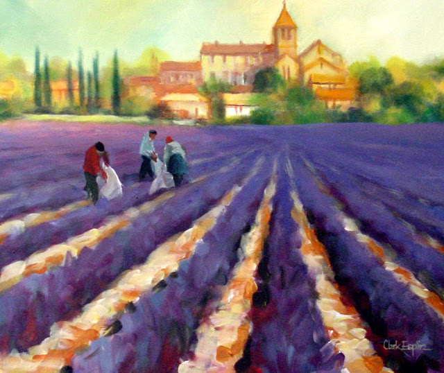 Lavender Paintings. clark eslplin