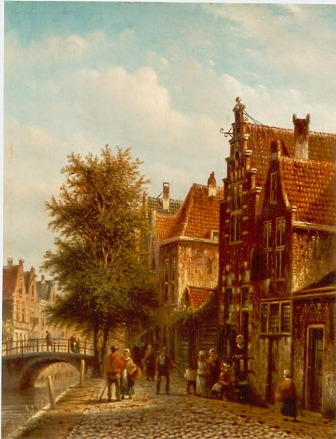 19th c. Dutch artists, Landscape painting, Romanticism, Johannes Franciscus Spohler