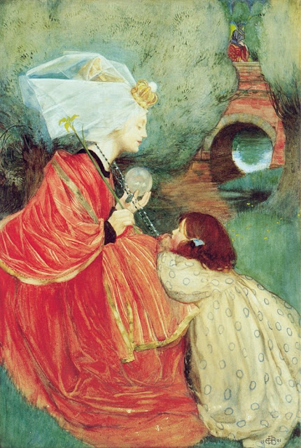 Eleanor Fortescue-Brickdale Today for Me,Crystal Ball in Painting, oil paintings, canvas painting,Figurative painting