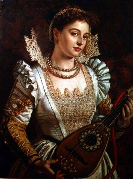 Women and Music in Painting 16-18th c, illiam Holman Hunt - Bianca