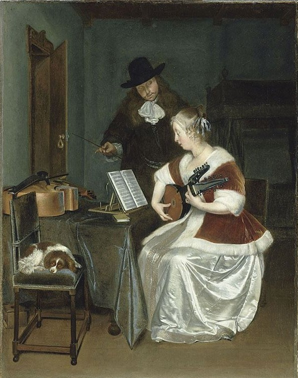 Women and Music in Painting 16-18th c, Gerard ter Borch, The Music Lesson
