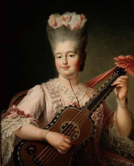 Women and Music in Painting 16-18th c, Francois-Hubert Drouais, Clothilde of France known as Madame Clothilde, queen of Sardinia