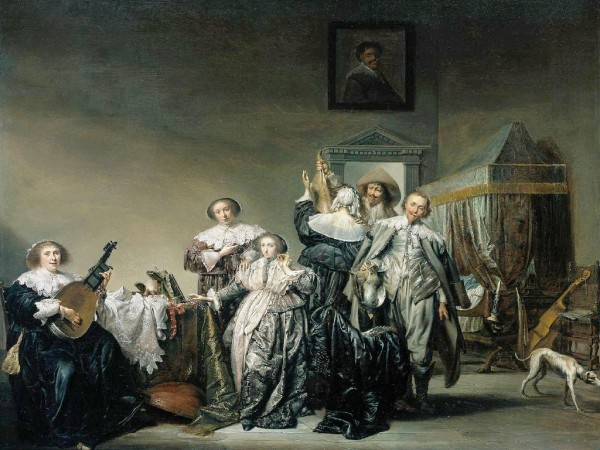 Women and Music in Painting 16-18th c, Pieter Codde, Galant Company