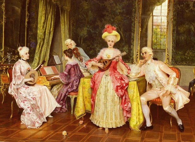 Women and Music in Painting 16-18th c, Sabatini The Music Lesson
