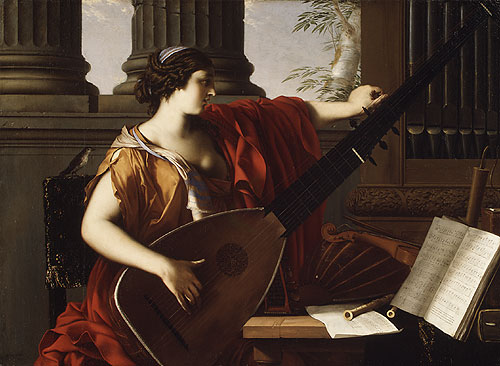 Women and Music in Painting 16-18th c, Laurent de La Hyre, Allegory of Music