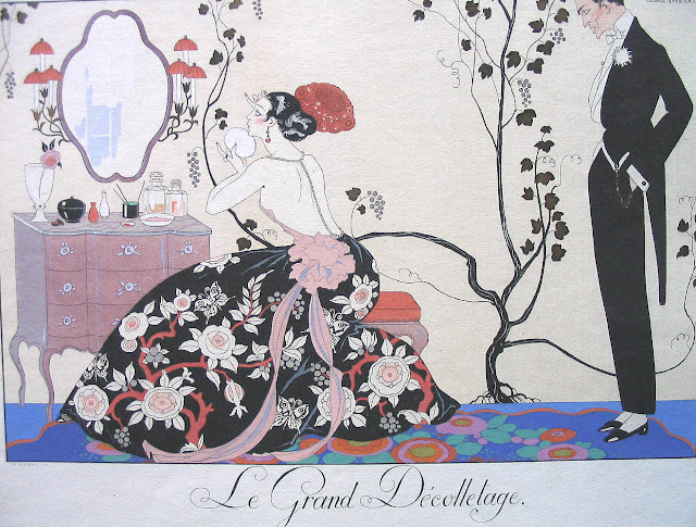 George Barbier,Art Deco fashion illustration