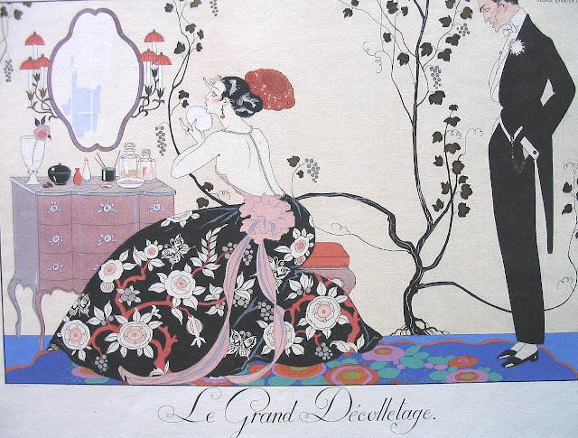 George Barbier,Art Deco fashion illustration