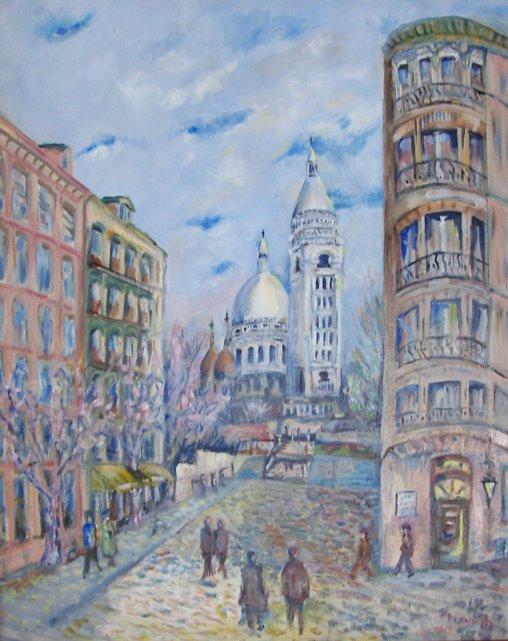 Sacre Coeur in Painting Walter Stephen Krane