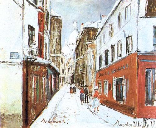Maurice Utrillo. Sacre Coeur in Painting