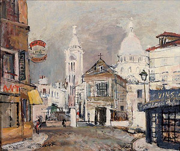 Elisee Maclet Sacre Coeur in Painting