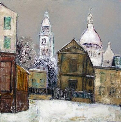 Sacre Coeur in Painting