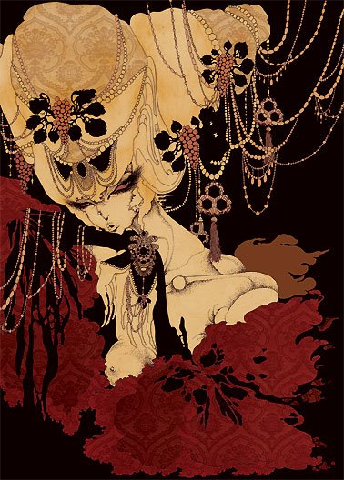 Aya Kato, Japanese illustrator,graphics,Art Nouveau