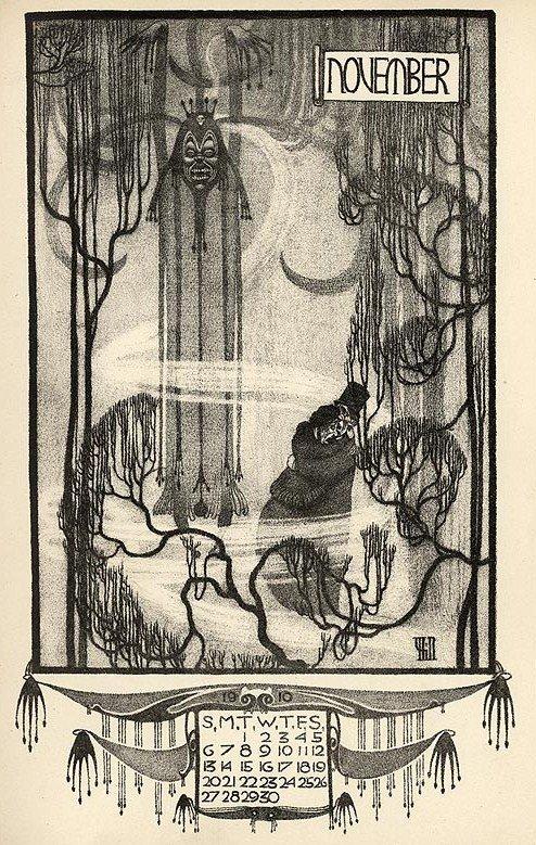 Arcadian Calendar for 1910, Vernon Hill's Illustration